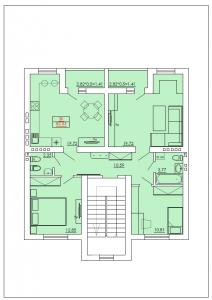 Трехкомнатная квартира 82,53 м.кв.